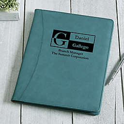 Sophisticated Style Personalized Full Size Portfolio - Teal