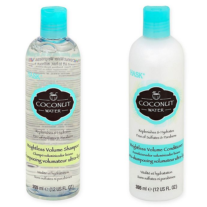 Hask Coconut Water Weightless Volume Hair Care Collection Bed