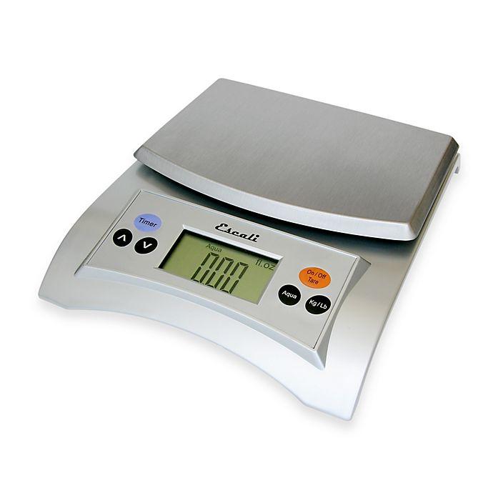 Alternate image 1 for Escali® Aqua 11 lb. Multipurpose Digital Food Scale in Silver