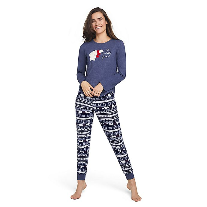 345d1d2bd3 ED Ellen DeGeneres Polar Bear Women s Holiday Pajama Set in Navy ...