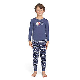 ED Ellen DeGeneres Polar Bear Child Holiday Pajama Set in Navy