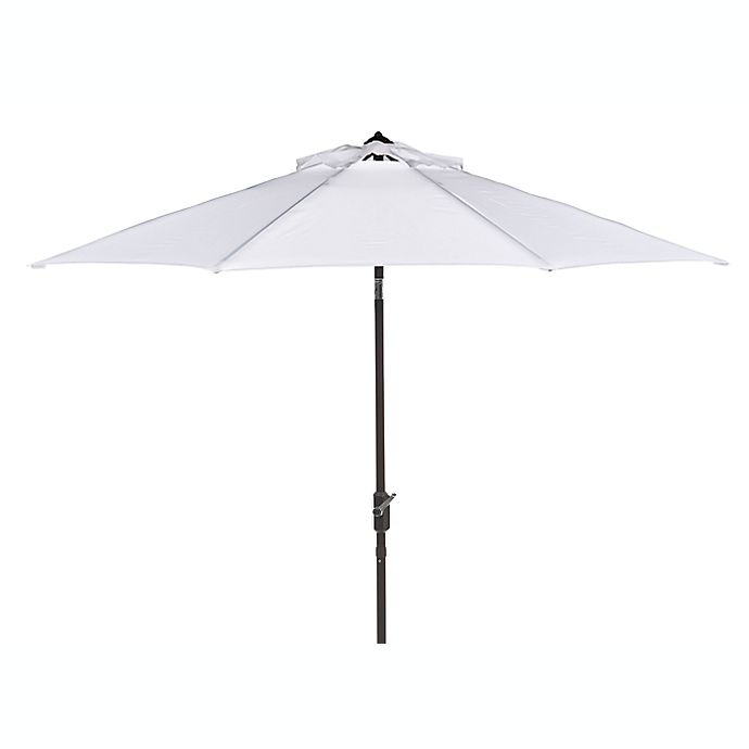 Alternate image 1 for Safavieh UV Resistant Ortega 9-Foot Auto Tilt Crank Umbrella in White