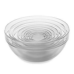 Luminarc 10-Piece Tempered Glass Nesting Mixing and Prep Bowl set