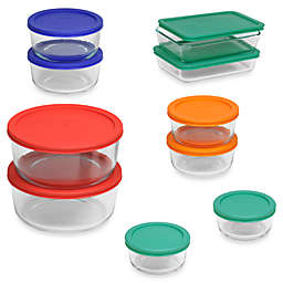 Pyrex® Storage Plus 20-Piece Container Set with Color Lids