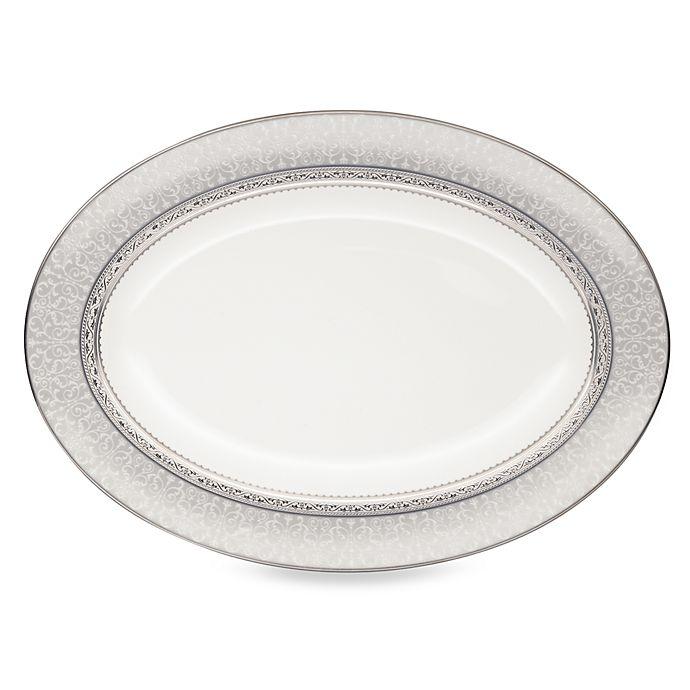 Alternate image 1 for Noritake® Odessa Platinum 14-Inch Oval Platter