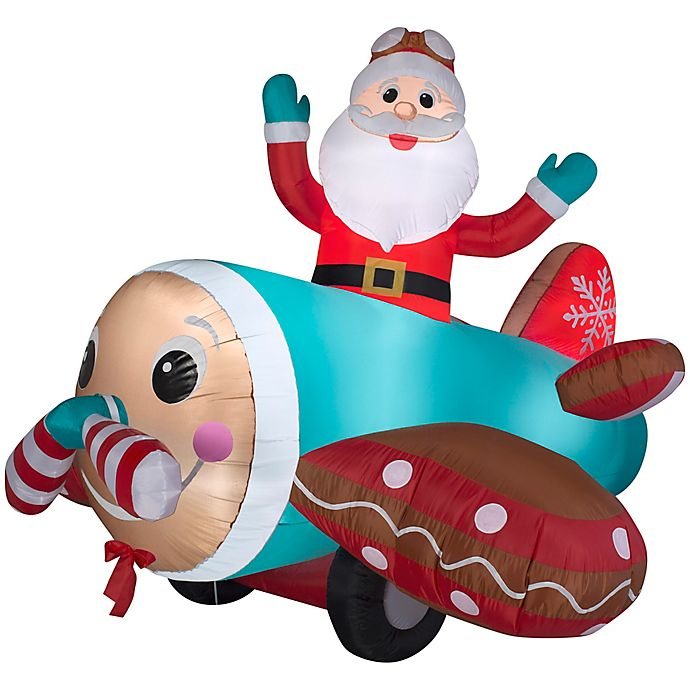 Alternate image 1 for Inflatable Gingerbread Plane Lawn Decor