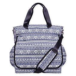 Trend Lab® Aztec-Inspired Tote Diaper Bag in Black/White