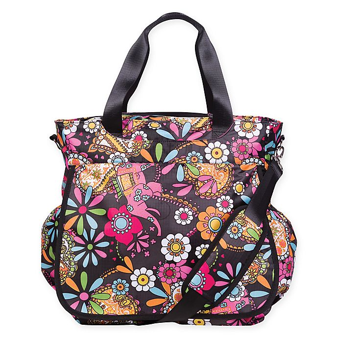 Alternate image 1 for Trend Lab® Bohemian Floral Tote Diaper Bag