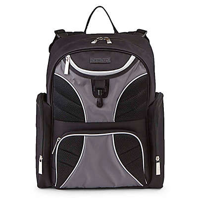 J is for Jeep® Adventures Backpack Diaper Bag in Black