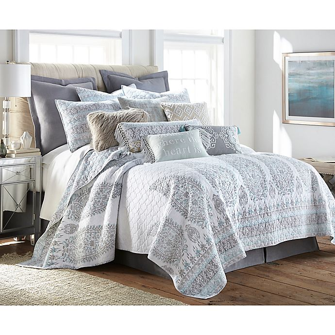 Alternate image 1 for Levtex Home Josie Spa King Quilt Set in Blue