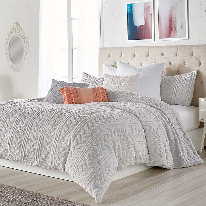 Peri Home Cable Knit Sherpa Comforter Set Bed Bath Amp Beyond