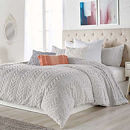 Peri Home Cable Knit Sherpa Comforter Set