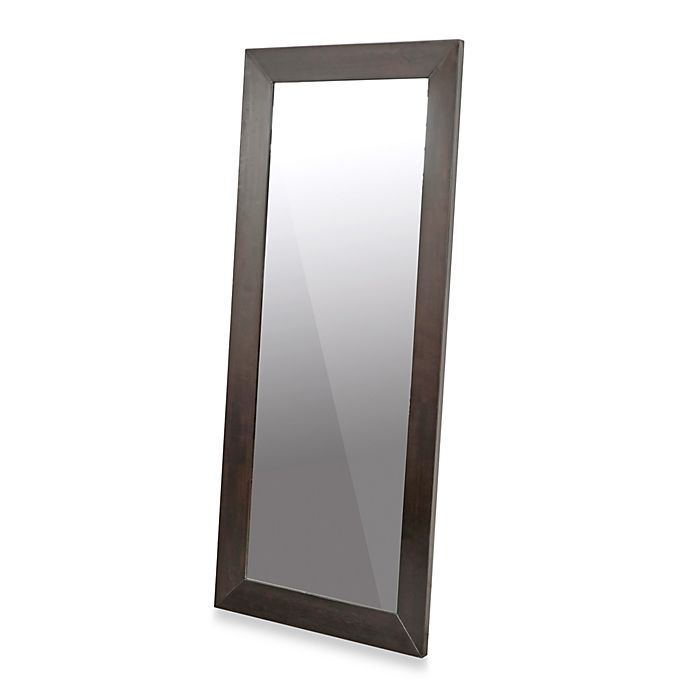 Alternate image 1 for Daffodil Dark Brown Wood Frame Floor Mirror