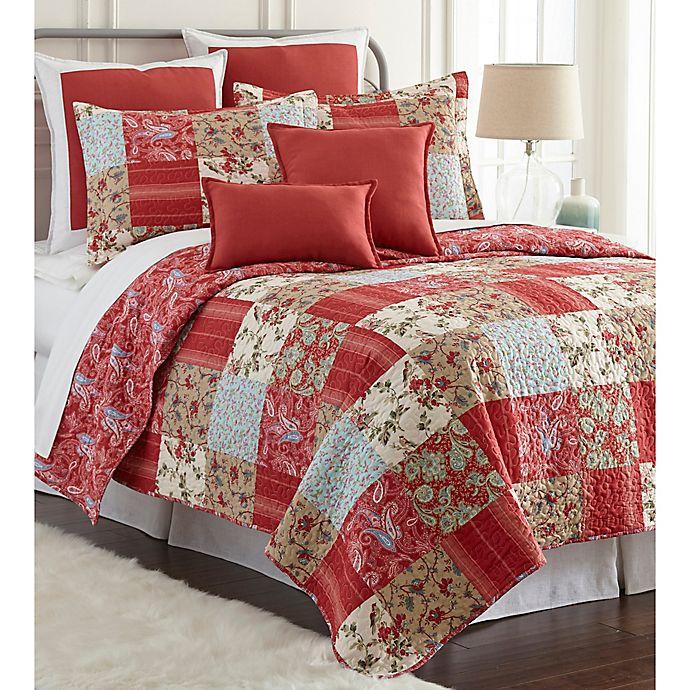 Alternate image 1 for Sherry Kline Manhattan Reversible Queen Quilt Set in Red