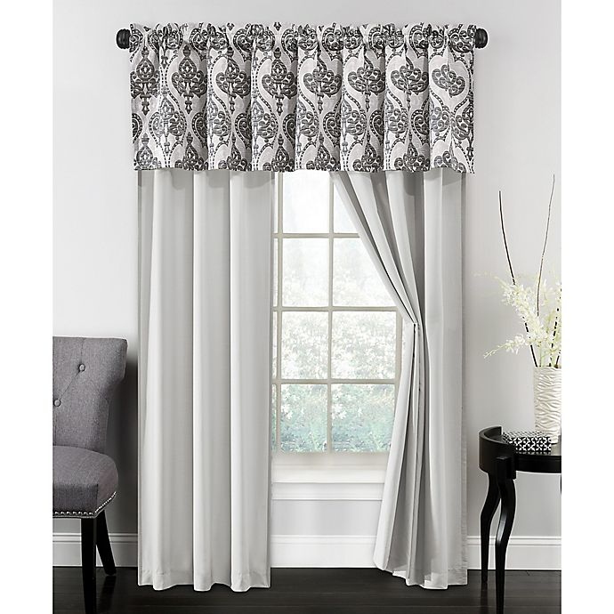 Alternate image 1 for Parker 84-Inch Rod Pocket Window Curtain Panel Pair in Silver/Grey