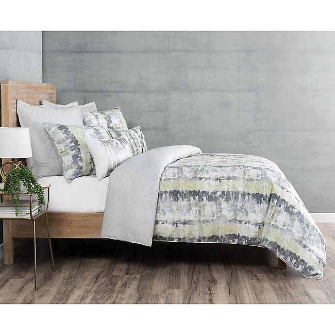 Alternate image 1 for Laundry by SHELLI SEGAL® Brentwood Reversible King Comforter Set in Grey