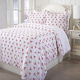 Great Bay Home Printed Flannel Duvet Cover Set