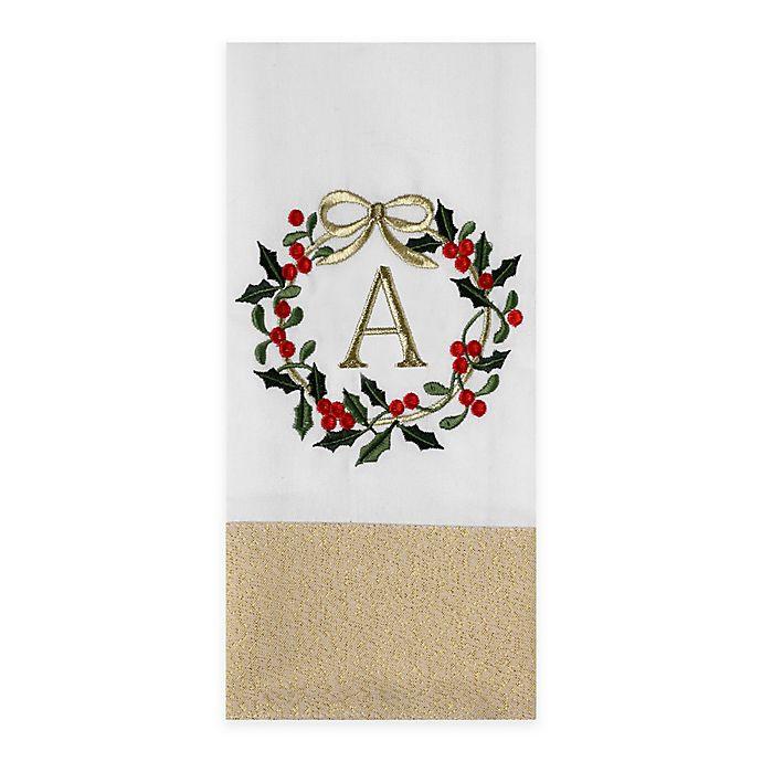 Holiday Monogrammed Kitchen Towel | Bed Bath & Beyond