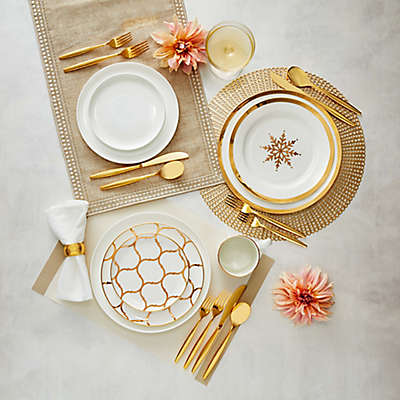 Nevaeh White® by Fitz and Floyd® Gold Entertainment Dinnerware Collection