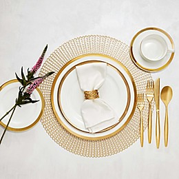 Nevaeh White® by Fitz and Floyd® Grand Rim Gold Dinnerware Collection