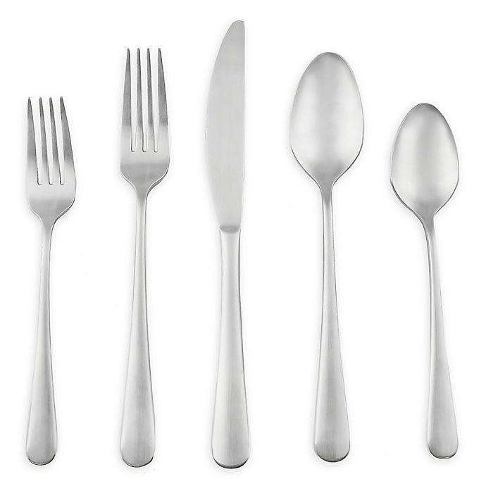 Alternate image 1 for Artisanal Kitchen Supply® Ghent 45-Piece Flatware Set in Satin