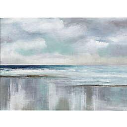 Masterpiece Art Gallery Cyan Sunrise 36-Inch x 24-Inch Canvas Wall Art