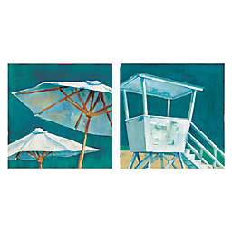 Masterpiece Art Gallery Beach Umbrella & Beach Tower Canvas Wall Art Set