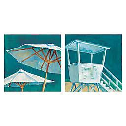 Masterpiece Art Gallery Beach Umbrella & Beach Tower 24-Inch x 24-Inch Canvas Wall Art Set