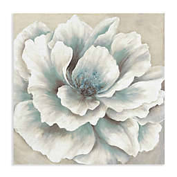Masterpiece Art Gallery Blue and Cream Peony Canvas Wall Art