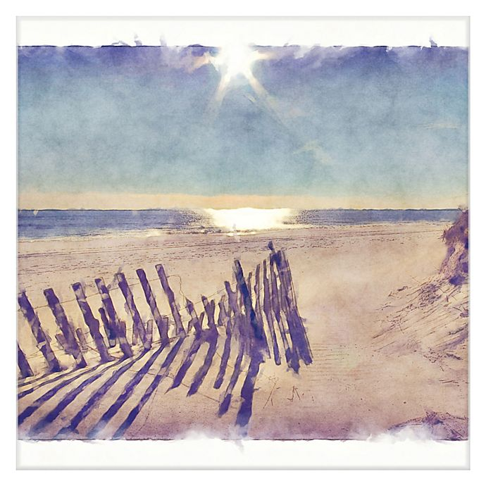 Alternate image 1 for Masterpiece Art Gallery Beach Fence Canvas Wall Art