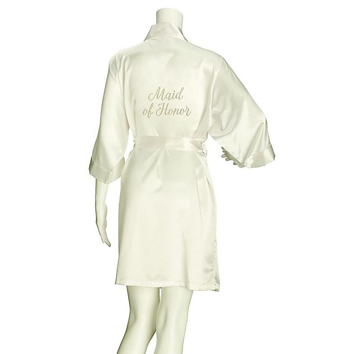 Alternate image 1 for Lillian Rose™ Large/X-Large Maid of Honor Satin Robe in Ivory