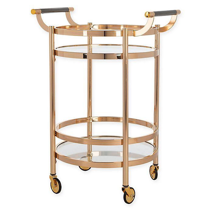 Alternate image 1 for Safavieh Sienna 2-Tier Round Bar Cart