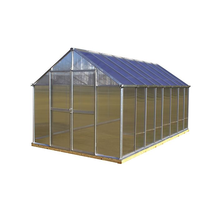 Alternate image 1 for Riverstone Monticello Extruded Aluminum 8-Foot x 16-Foot Residential Greenhouse