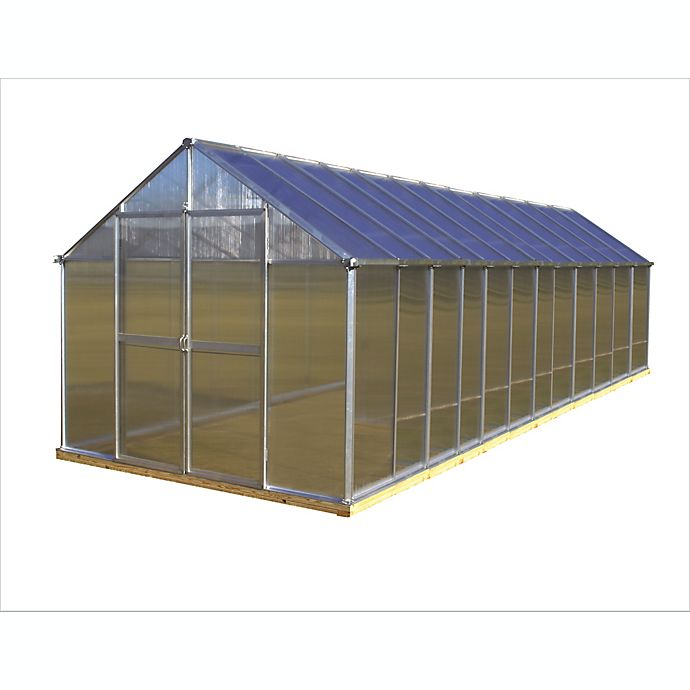 Alternate image 1 for Riverstone Monticello Extruded Aluminum 8-Foot x 24-Foot Residential Greenhouse