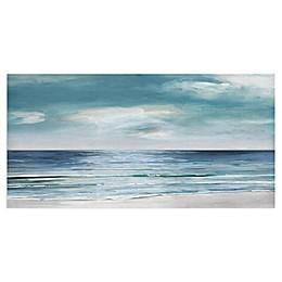 Blue Silver Shore by Sally Swatland 48-Inch x 24-Inch Canvas Art Print