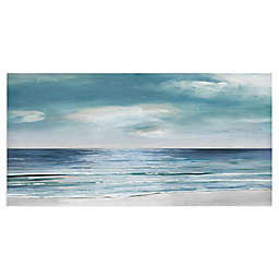 Blue Silver Shore by Sally Swatland 48-Inch x 24-Inch Canvas Art Print