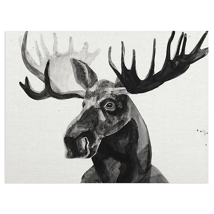 Alternate image 1 for Masterpiece Art Gallery Watercolor Moose 18-Inch x 24-Inch Canvas Wall Art