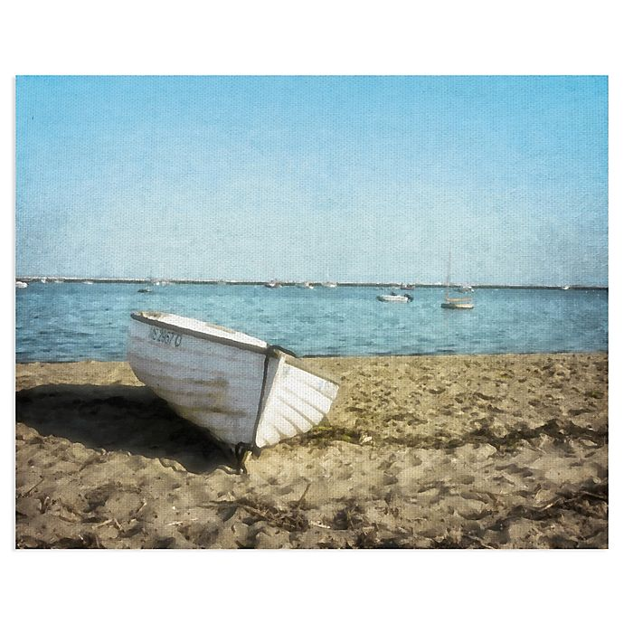 Alternate image 1 for Masterpiece Art Gallery Row Boat 28-Inch x 22-Inch Canvas Wall Art