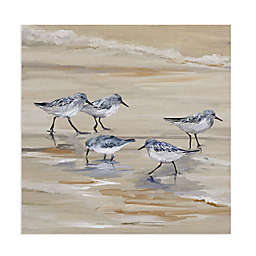 Masterpiece Art Gallery Sandpiper Beach II Amber Canvas Wall Art