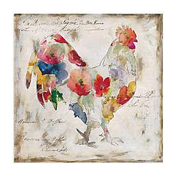 Masterpiece Art Gallery Flowered Rooster Canvas Wall Art