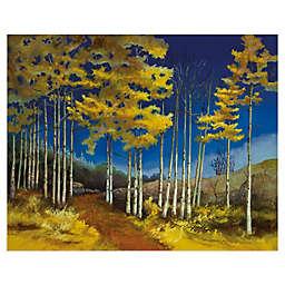 Sue Darius Yellow Aspen Canvas Wall Art