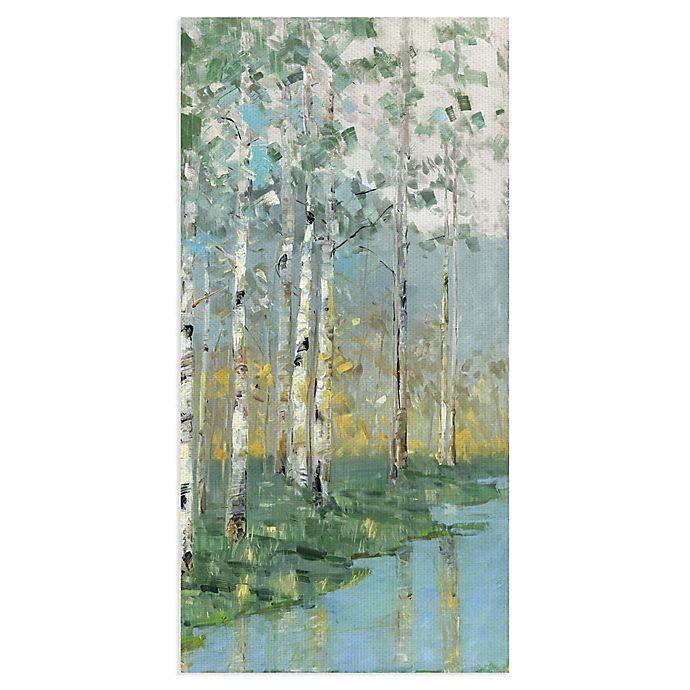 Alternate image 1 for Sally Swatland Birch Reflections III 17-Inch x 34-Inch Canvas Wall Art