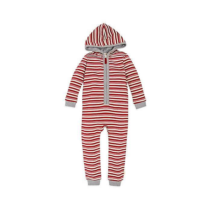 3dc481139 Burt s Bees Baby® Peppermint Stripe Coverall in Red