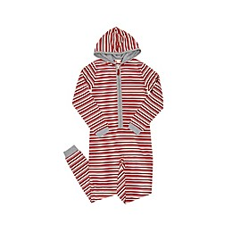 Burt's Bees Baby® Peppermint Stripe Jumpsuit in Red
