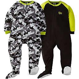 Gerber® 2-Pack Camo Footie Pajamas in Green/Grey