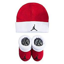 Jordan Jumpman Size 0-6M 2-Piece Hat and Bootie Set in Red