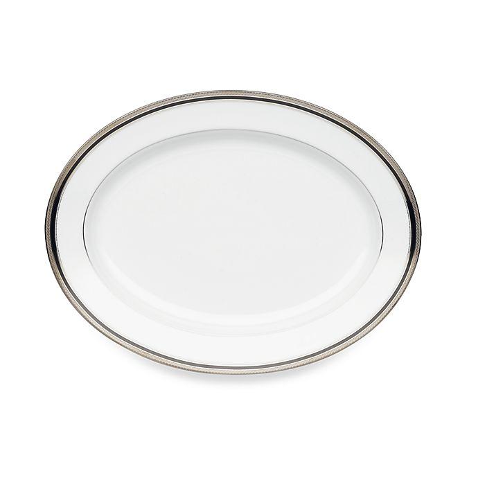Alternate image 1 for Noritake® Austin Platinum 14-Inch Oval Platter