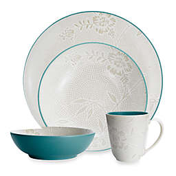 Noritake® Colorwave Bloom Coupe 4-Piece Place Setting in Turquoise