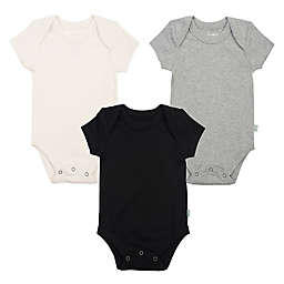 Finn + Emma® 3-Pack Organic Basics Bodysuits in Grey