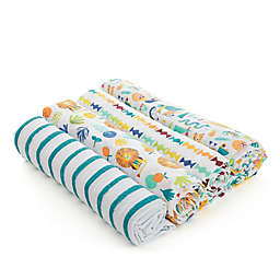 aden® by aden + anais® 4-Pack Going Bananas Swaddles in Teal
